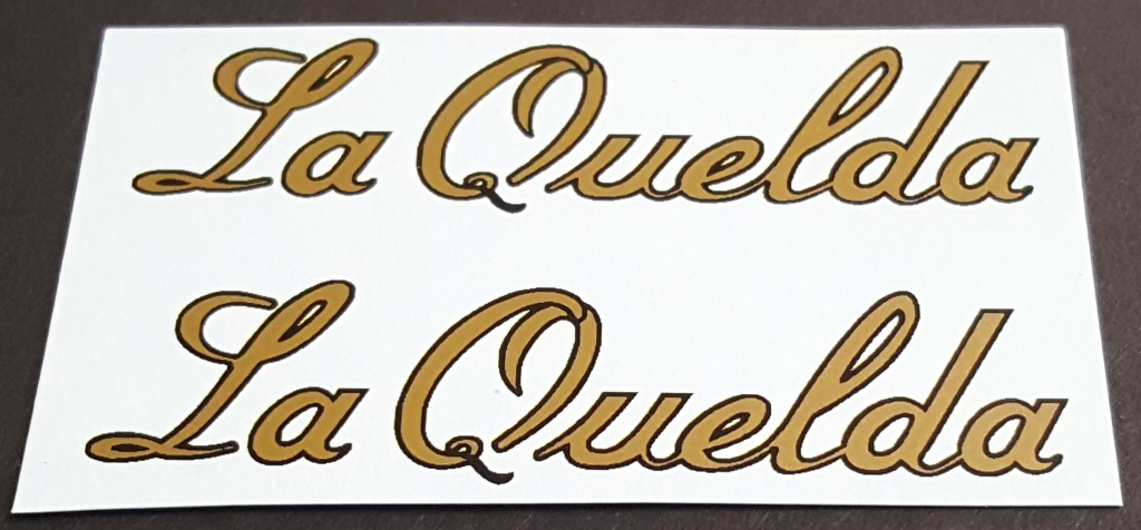 Holdsworth La Quelda Top Tube Decals - 1 Pair