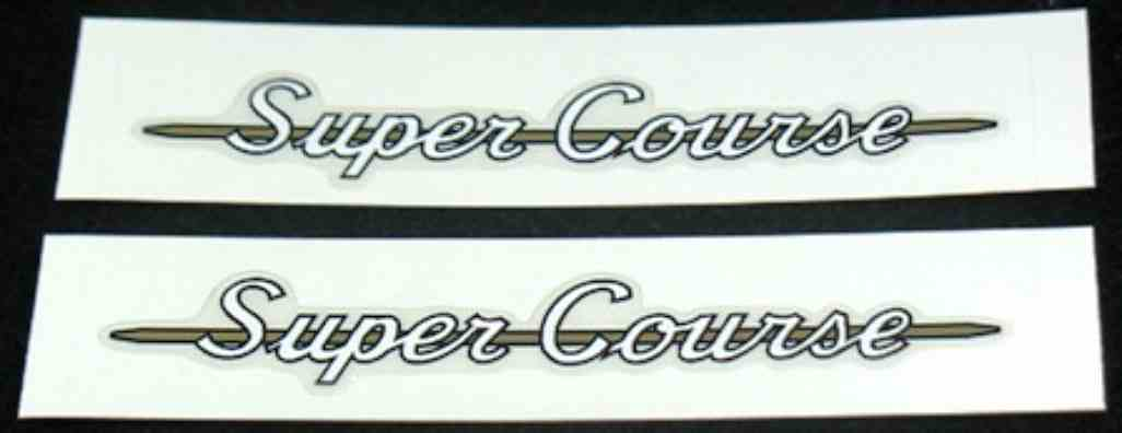Super Course Top Tube Decals - 1 Pair