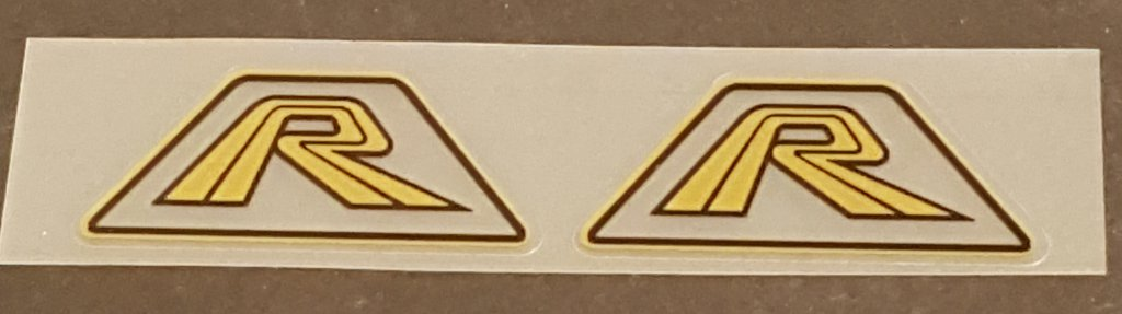 Fork Decals Gold  - 1 Pair - Clear Background