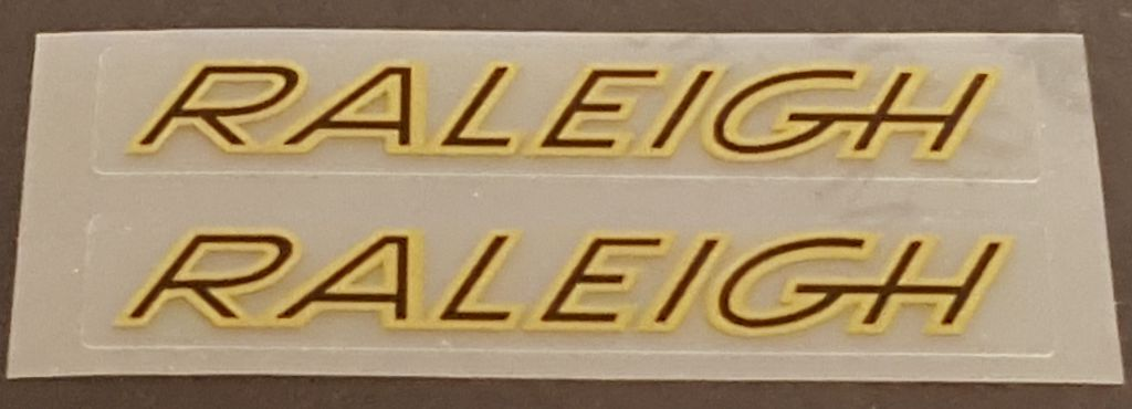Raleigh Stay Decals Italic - 1 Pair - Choose Colors