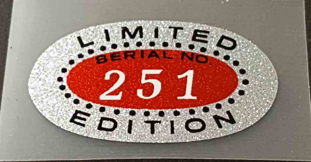 Limited Edition 251 Decal