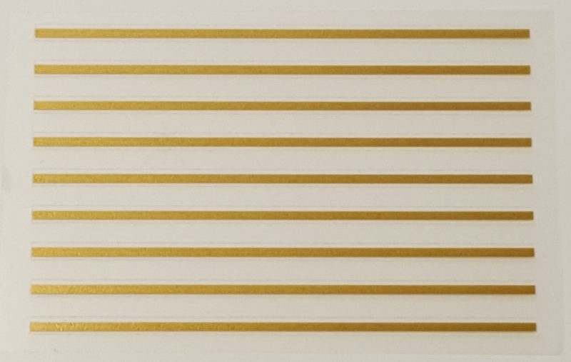 Gold Stripes - Group of 9