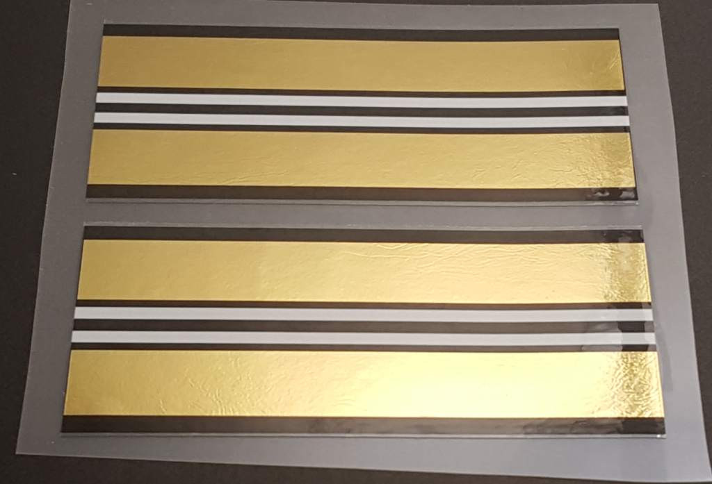 Double Mirror Gold Bands - 1 Pair