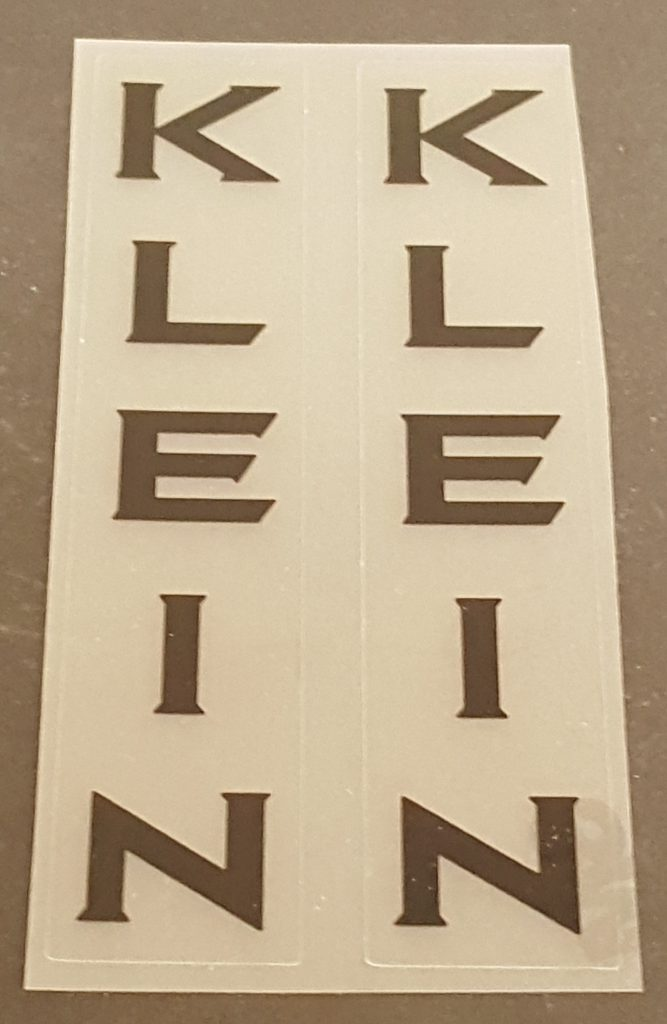 Klein Stay Decals - 1 Pair - Choose Colors