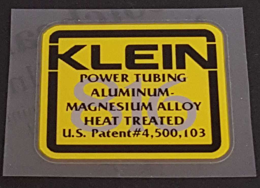 Klein Tubing Decal - Choose Background Color