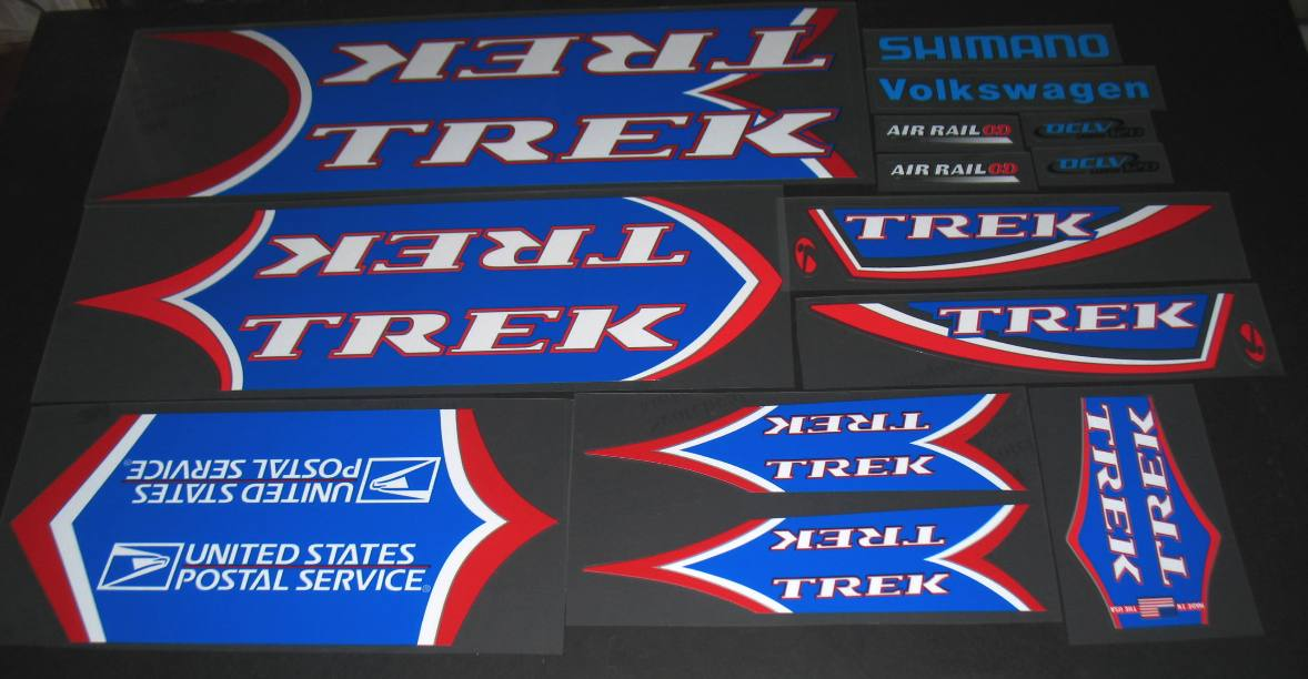 Trek 2001 5200 USPS OCLV Bicycle Decal Set