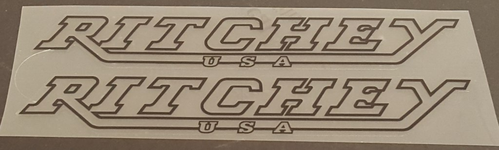 Ritchey USA Down Tube Decals - 1 Pair - Choose Outline Color