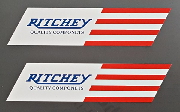 Ritchey Top Tube Decals - 1 Pair