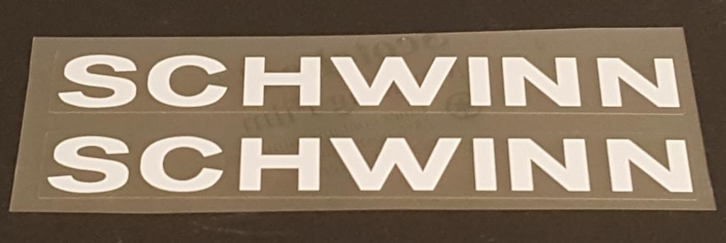 Schwinn Down Tube Decals  - 1 Pair - Choice of Color
