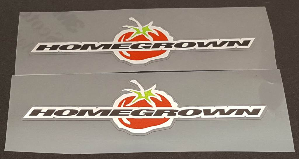 Schwinn Homegrown Top Tube Decals with Chrome - 1 Pair - Choose Color