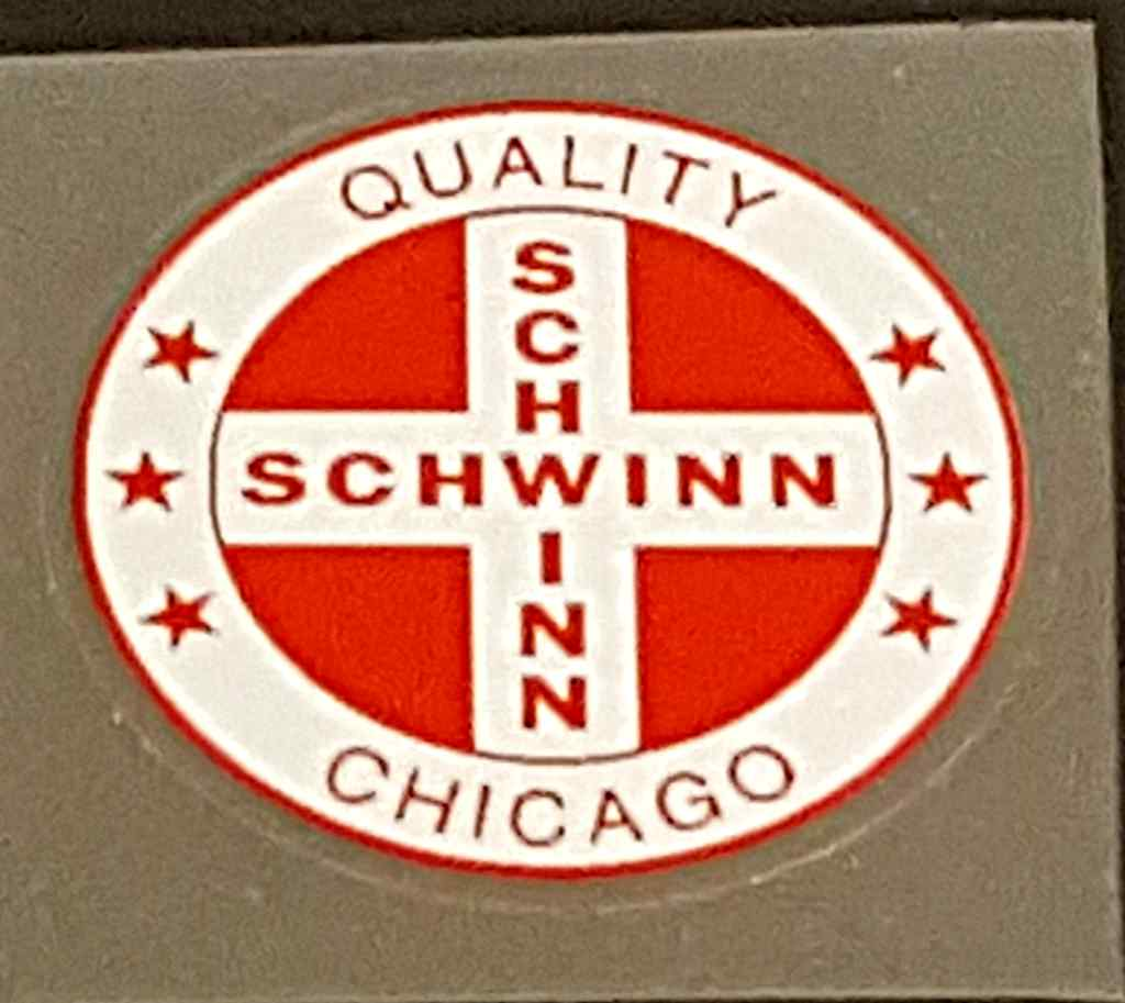 Schwinn Quality Chicago Seat Tube Decal - Choice of Color on White