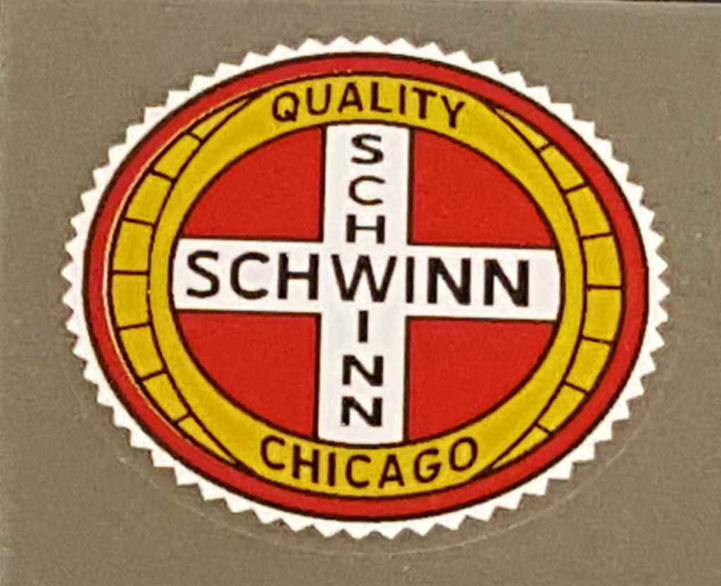 Schwinn Quality Chicago Seat Tube Decal - Gold/White/Red