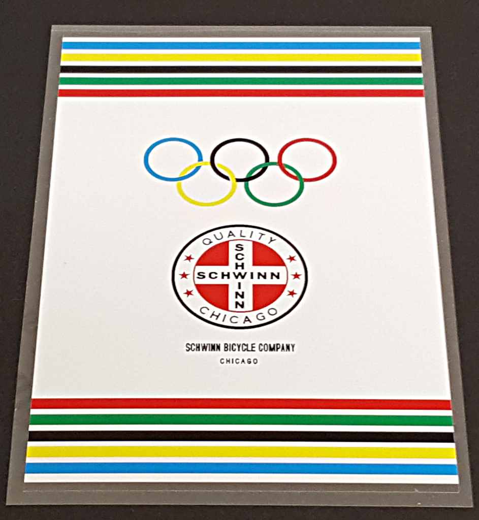 Schwinn Seat Tube Wrap Decal Olympic Rings