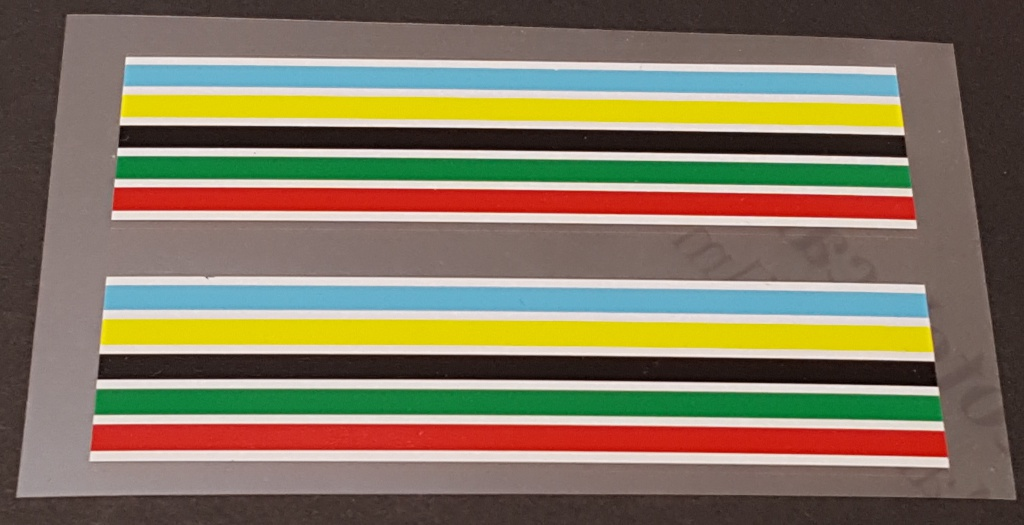 Schwinn Colored Band Decals - 1 Pair - Choice of Size