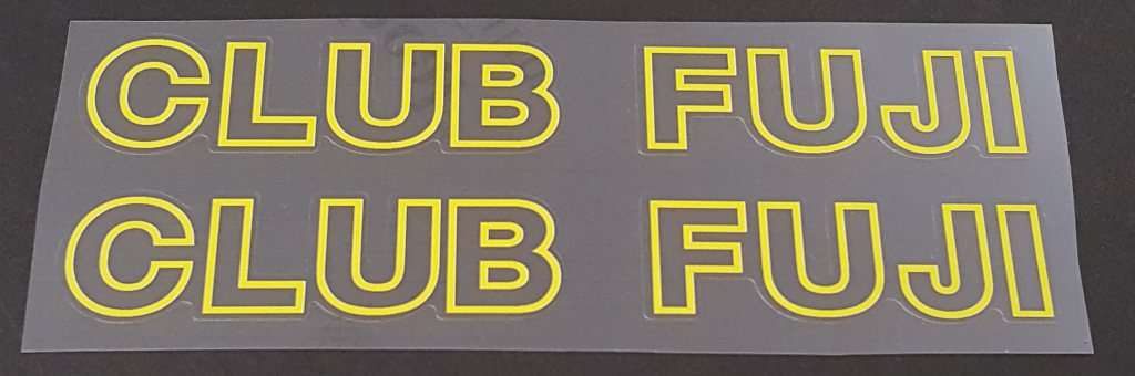Fuji Club Fuji Bicycle Down Tube Decals - 1 Pair - Choose Colors