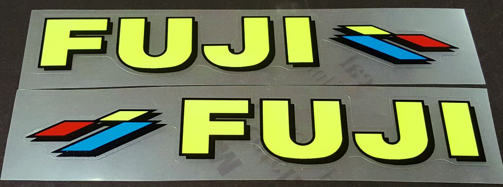 Fuji Down Tube Decals - 1 Pair - Choice of Colors