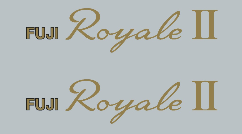 Fuji Royale Down Tube Decals - 1 Pair - Choice of Colors