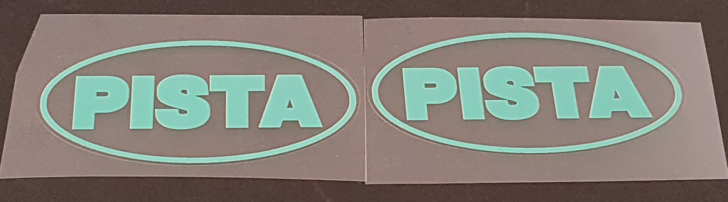 Bianchi Oval Pista Top Tube Decals  - 1 Pair - Choose Color
