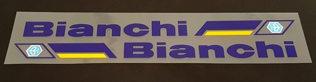 Bianchi Piaggio Seat Tube Decals - 1 Pair - Select Color