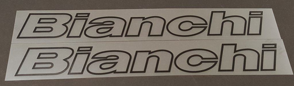 Bianchi Italic Fork Decals - Outline Only - 1 Pair - Choose Color