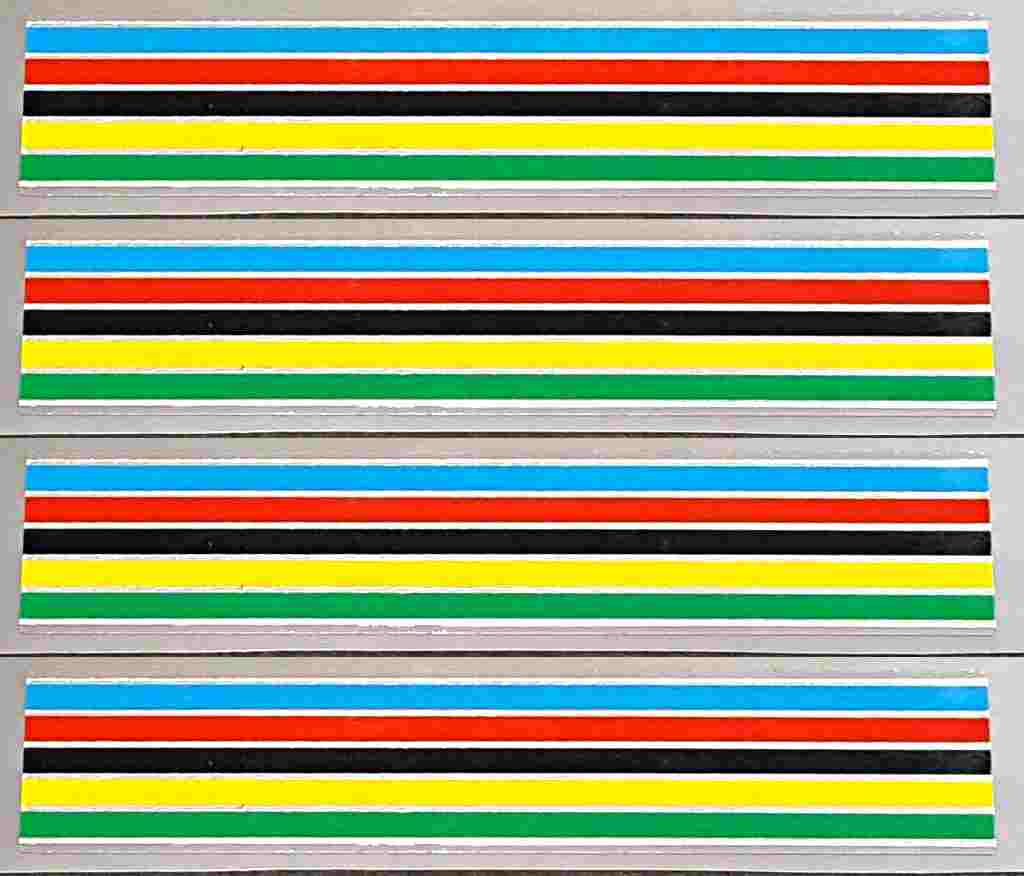 Fuji Stripes Decals with Chrome - 17mm - Set of 4