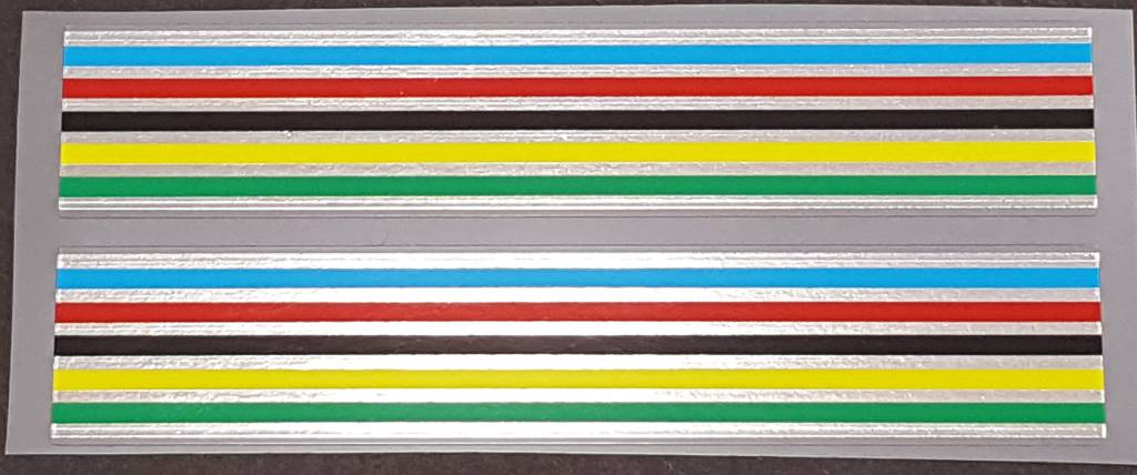 Fuji Stripes Decals with Chrome - 1 Pair - 18mm