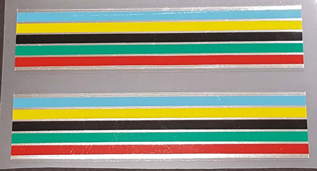 Fuji Stripes Decals with Chrome - 1 Pair - 21mm