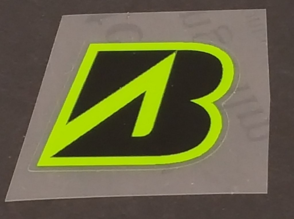 Bridgestone Head Badge Decal - Black w/Choice of Accent Color