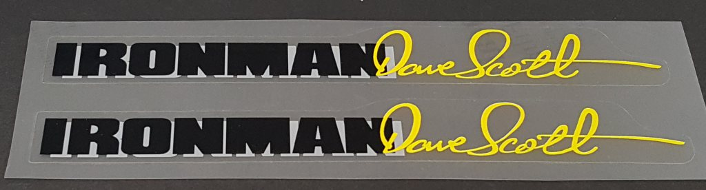 Centurion Ironman Dave Scott Top Tube Decals - 1 Pair - Choose Colors