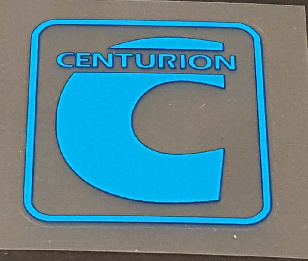 Centurion 1980s Head Badge Decal - 1 Color - Choose Color