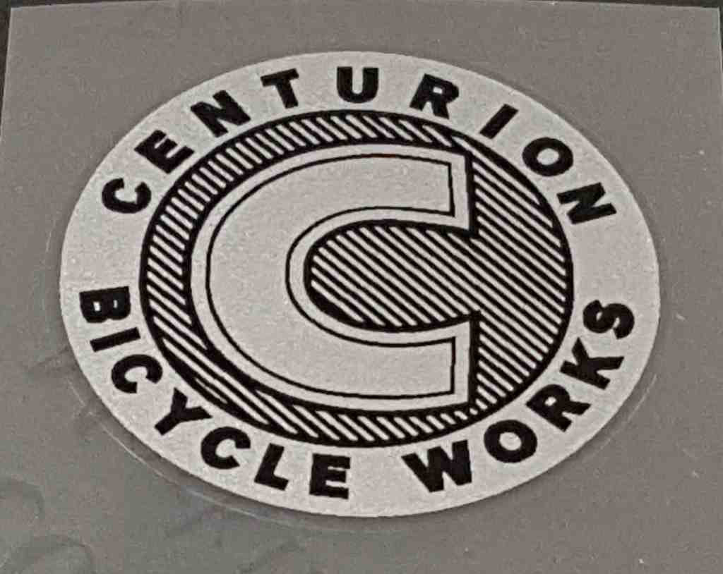 Centurion Cycle Works Head Badge Decal - Silver