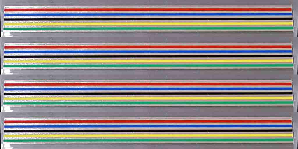 Centurion Multi-Color Stripes with Chrome - Set of 4 - 10mm