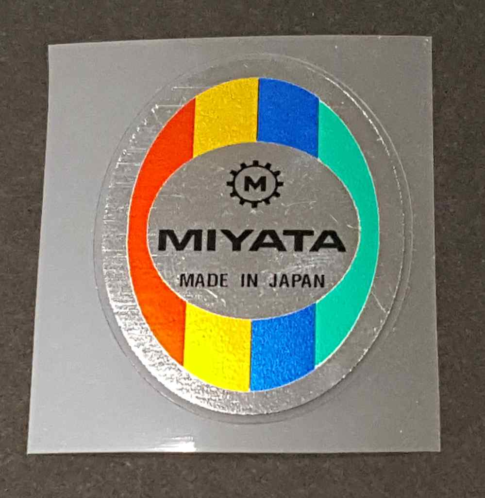 Miyata Head Badge Decal on Chrome