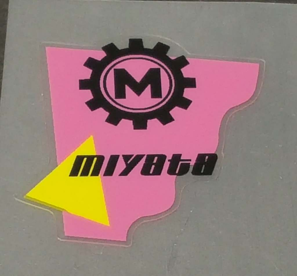 Miyata Head Badge Decal - Pink