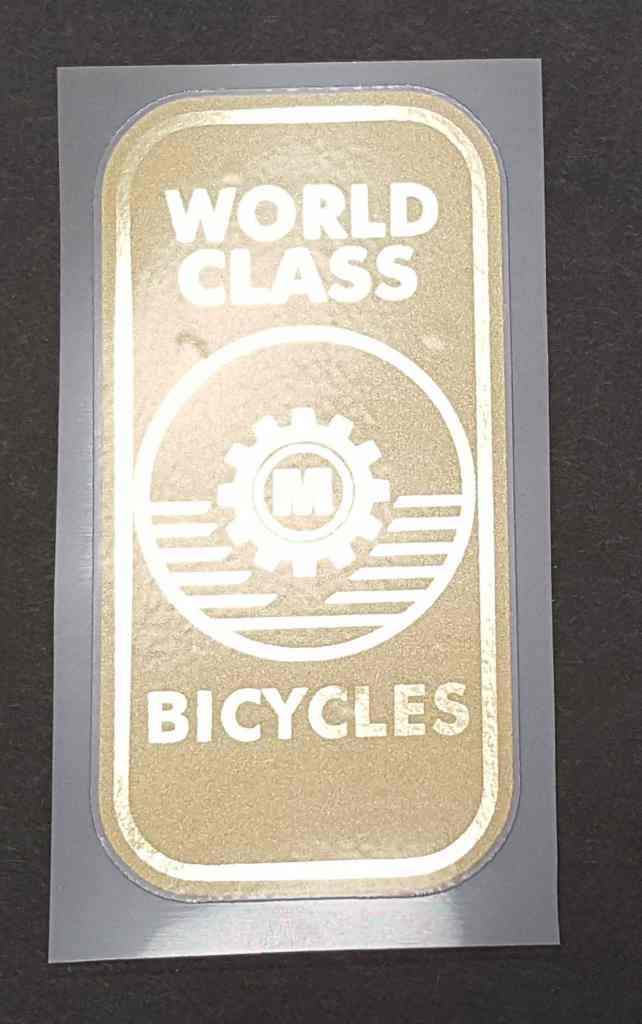 Miyata Head Badge Decal with Mirror Gold