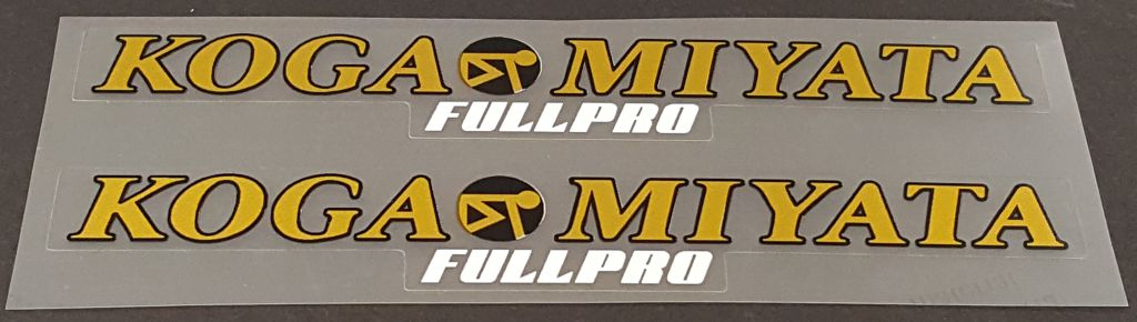 Koga-Miyata Full Pro Top Tube Decals - 1 Pair