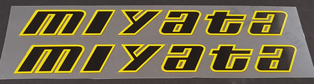 Miyata Down Tube Decals - 1 Pair - Choice of Colors