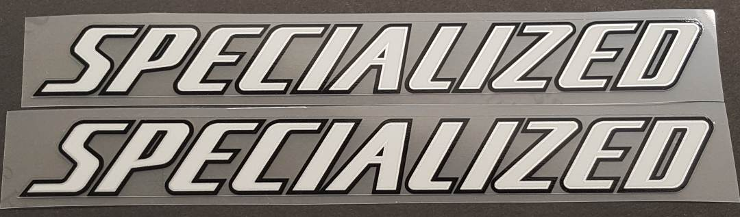 Specialized Top Tube Decals w/Silver Inner Outline - 1 Pair - Choose Colors