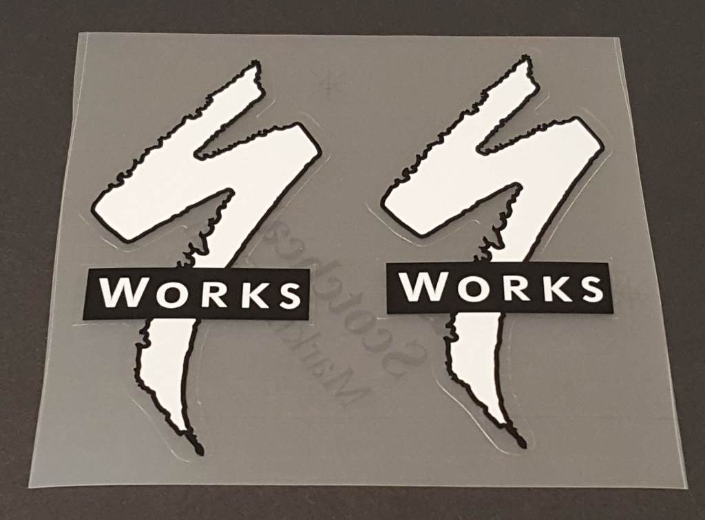 Specialized Logo/Works Seat Tube Decals - 1 Pair - Choose Colors