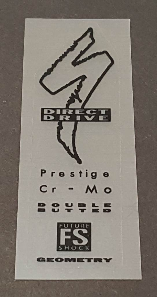 Specialized Prestige CrMo Tubing Decal