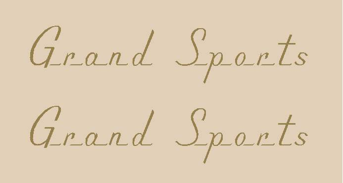 Grand Sports Top Tube Decals - 1 Pair