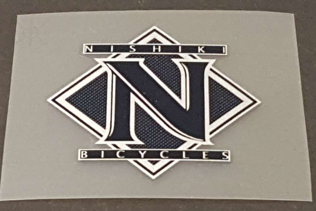 Nishiki Bicycles Head Badge Decal  - Choose Colors
