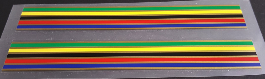 Colored Bands/Stripes - 1 Pair - Choice of Separator Color (sku 10951)