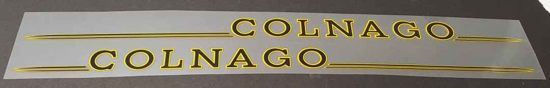 Colnago Master Down Tube Decals - 1 Pair - Choice of Colors
