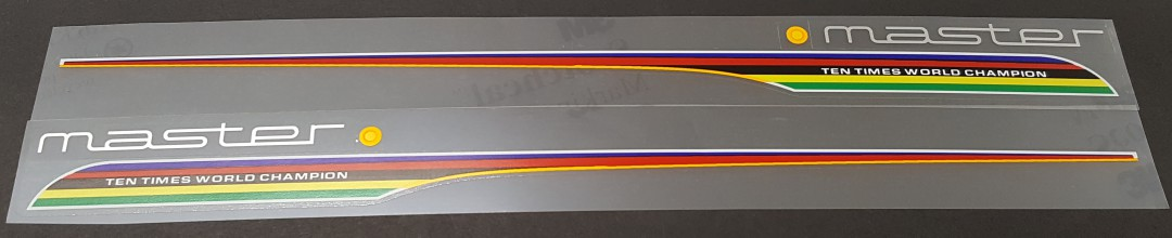 Colnago Master Top Tube Decals - 1 Pair - Choose Color
