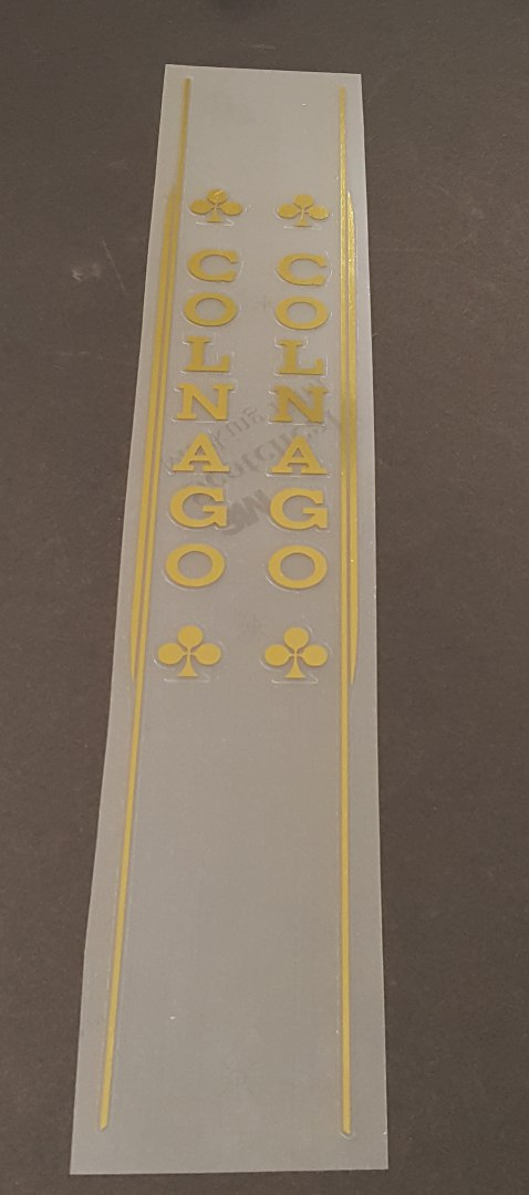 Colnago Master Seat Tube Decals - Mirror Gold