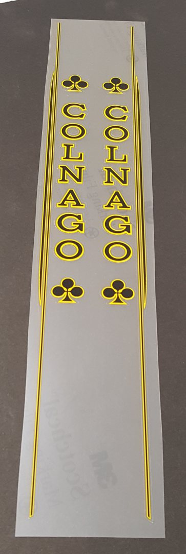 Colnago Master Seat Tube Decals - Choice of Colors