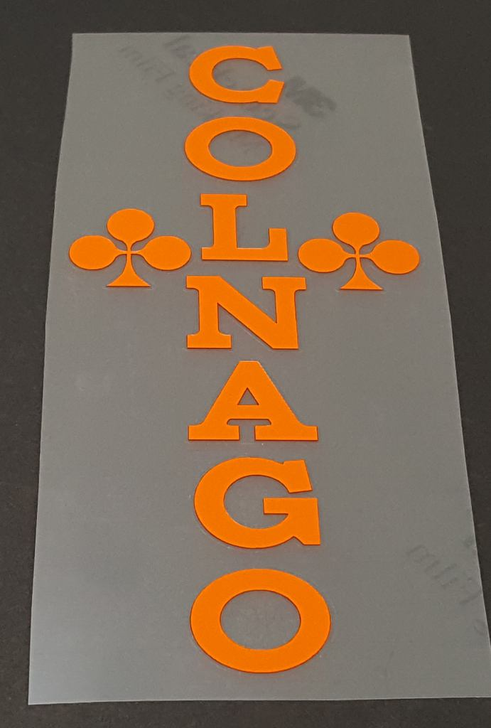 Colnago Seat Tube Decal - Choose Color