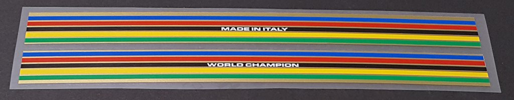 Colnago Long Seat Tube Colored Bands - 1 Pair