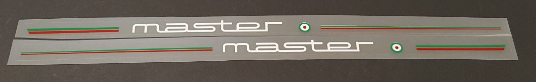 Colnago Stay Decals - 1 Pair - Red/Green stripes - Choose Color